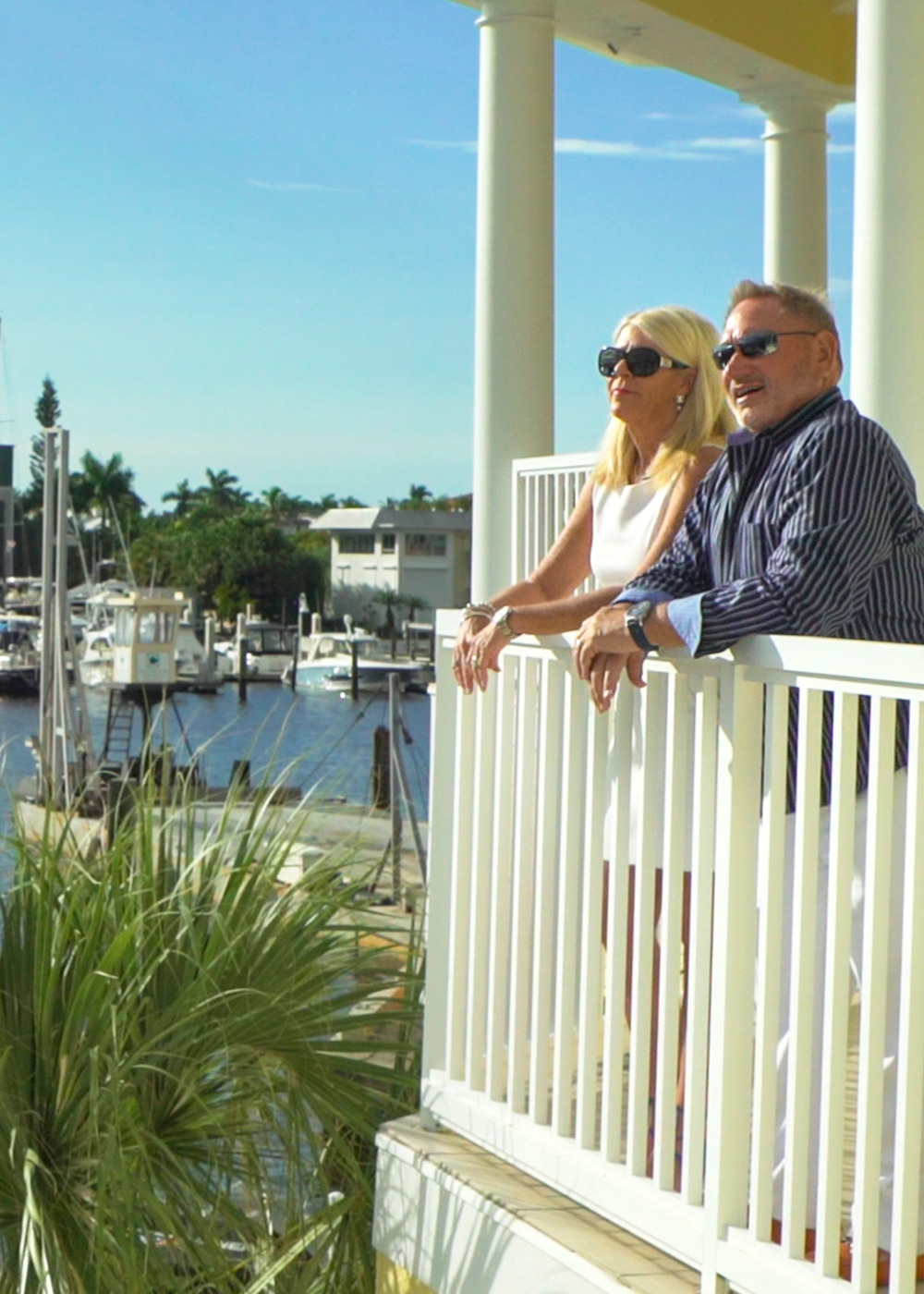 Steve Wedel with his wife in Naples, Florida.